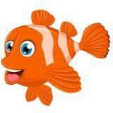 Милый шарж рыб клоуна Стоковое фото RF