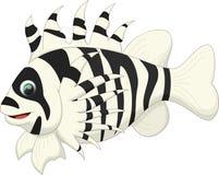 Милый шарж рыб льва Стоковое фото RF