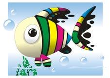 Милый шарж рыб Стоковое Фото