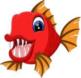 Милый шарж рыб Стоковое Изображение RF