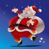 Милый шарж Санта Клауса счастливый Стоковая Фотография RF