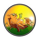 Милый шарж свиней Стоковое Изображение