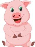 Милый шарж свиньи Стоковые Изображения RF