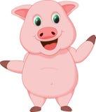 Милый шарж свиньи Стоковая Фотография