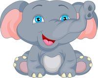 Милый шарж слона младенца Стоковое Изображение RF