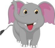 Милый шарж слона Стоковые Фото