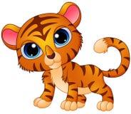 Милый шарж тигра младенца Стоковое Изображение RF