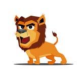 Милый шарж характера льва Стоковое Фото