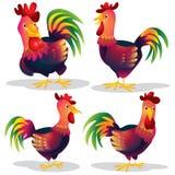 Милый шарж цыпленка Стоковая Фотография