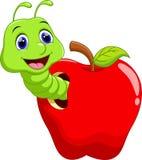 Милый шарж червя Стоковая Фотография