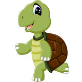Милый шарж черепахи иллюстрация штока