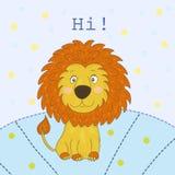 Милый шарж льва, иллюстрация Стоковое Изображение RF