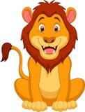 Милый шарж льва Стоковая Фотография RF