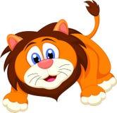 Милый шарж льва стоковое изображение