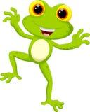 Милый шарж лягушки иллюстрация вектора