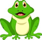 Милый шарж лягушки Стоковые Фотографии RF