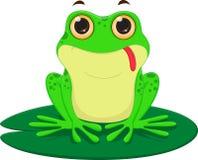 Милый шарж лягушки иллюстрация штока
