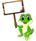 Милый шарж лягушки Стоковое фото RF