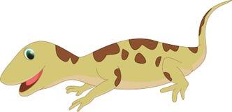 Милый шарж ящерицы Стоковое Изображение RF
