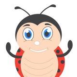 Милый шарж ladybug Стоковое Фото