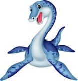 Милый шарж plesiosaurus иллюстрация вектора