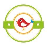 Милый штемпель уплотнения птицы иллюстрация вектора