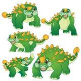 Милый ankylosaurus иллюстрация штока