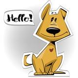 Милый doggy шаржа иллюстрация вектора