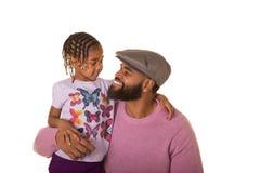 Милый preschooler и папа стоковая фотография