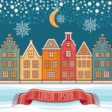 Милый textless шаблон для рождественских открыток Стоковое фото RF