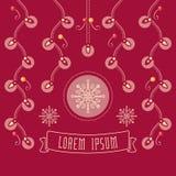 Милый textless шаблон для рождественских открыток Стоковые Фото