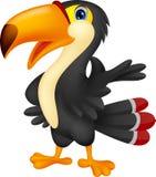 Милый toucan представлять шаржа Стоковые Изображения