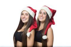 2 милых близнеца сестер Стоковые Изображения RF