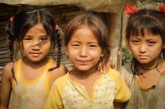 3 милых девушки в Непале Стоковое Изображение RF