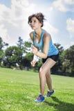 2 милых девушки jogging Стоковое фото RF