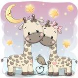 2 милых жирафа иллюстрация вектора