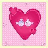 2 милых птицы сидя на ветви Стоковые Фото