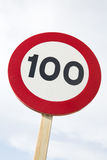 100 миль в час Стоковая Фотография RF