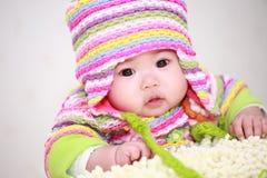 младенец Азии милый стоковые изображения