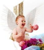 младенец ангела счастливый Стоковое фото RF