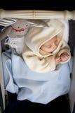 Младенец в pram Стоковые Изображения