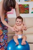 Младенец гимнастический и потеха Стоковое Изображение RF