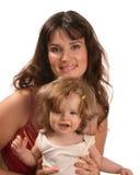 младенец держит мать Стоковая Фотография