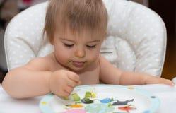 Младенец, есть, человеческое лицо, кавказская этничность 11 Стоковое Изображение RF