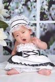 младенец зевая Стоковые Фото