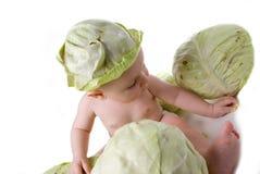 младенец игр капусты Стоковые Изображения