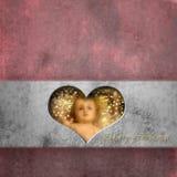 Младенец Иисус рождественской открытки Стоковые Фото