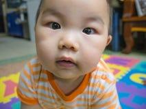 Младенец мальчика Cutie красивый азиатский стоковое фото