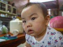 Младенец мальчика Cutie красивый азиатский стоковая фотография rf
