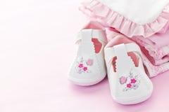 младенец одевает пинк младенца девушки Стоковые Изображения RF